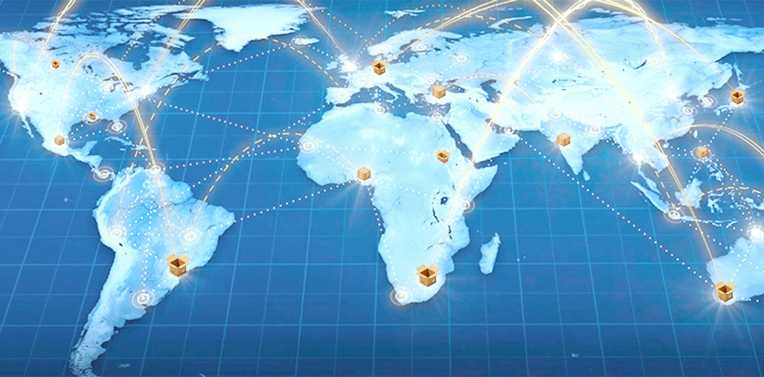 Worldwide delivery network in Canada